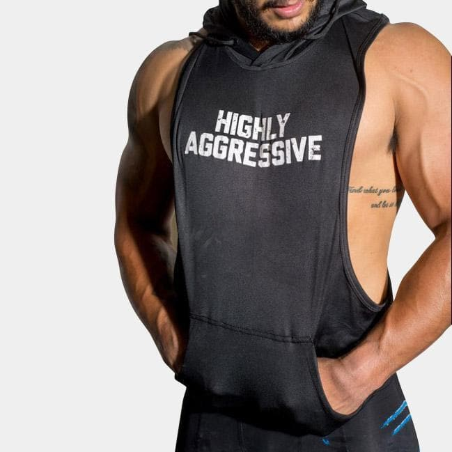 HIGHLY AGGRESSIVE Sleeveless Hoodie