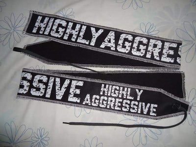 HIGHLY AGGRESSIVE Tie Wrist Wraps