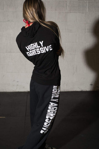 HIGHLY AGGRESSIVE Unisex Lightweight Pullover Hoodie