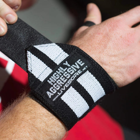 HIGHLY AGGRESSIVE Velcro Wrist Wraps