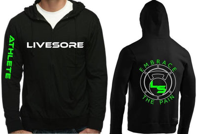 LiveSore ATHLETE Zip Up Hoodie