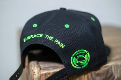 LiveSore Black w/ Neon Green Snap Back Hat