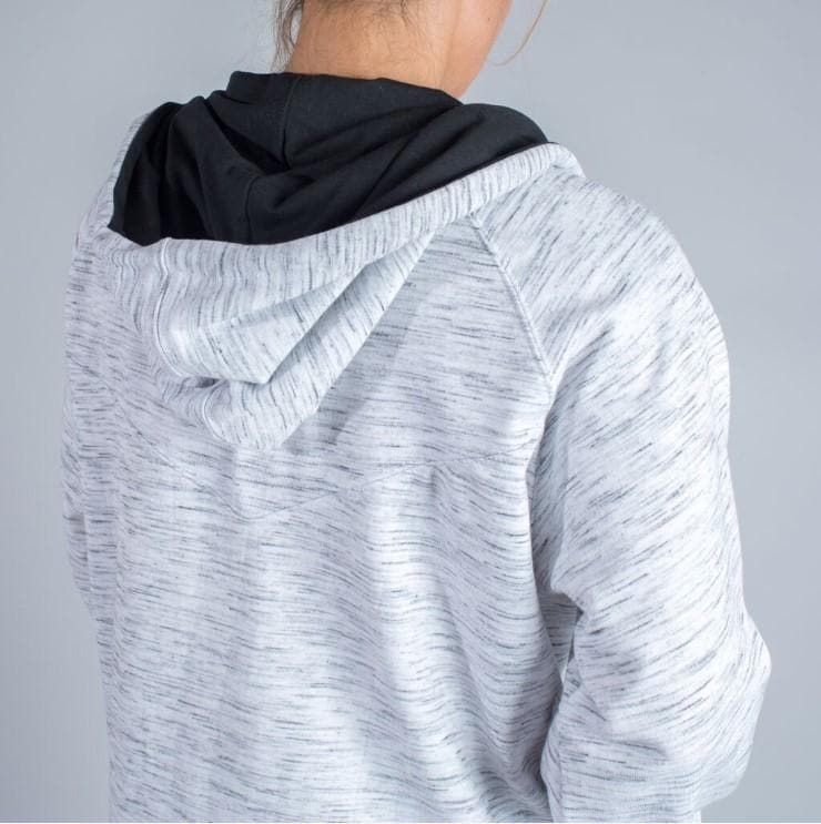 Marble Gray Mid-Weight Zip-Up Hoodie (Unisex)