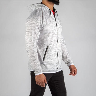 Marble Gray Mid-Weight Up Hoodie