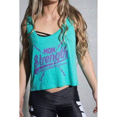 Mom Strength Crop Top