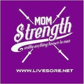 "Mom Strength Purple 4x4"" Stickers"