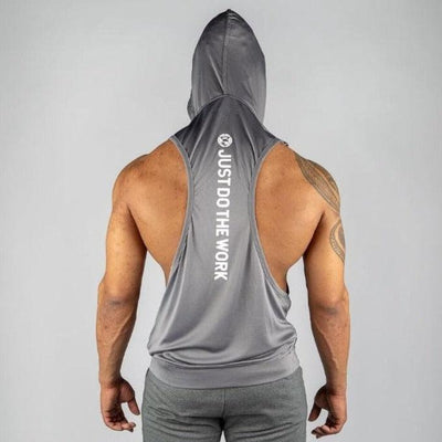 NOBODY CARES Sleeveless Muscle Hoodie
