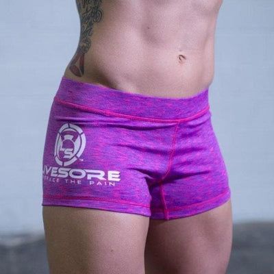 Purple Marble Booty Shorts
