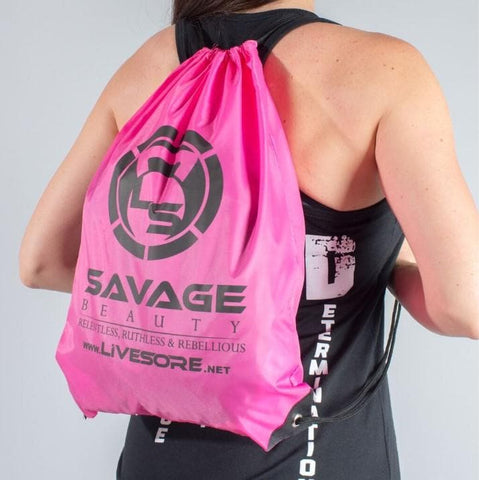 Neon Pink Savage Beauty Stringer Backpacks