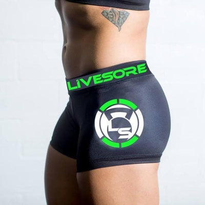 Savage Strength Black Booty Shorts