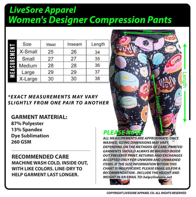 Women's Galaxy Donut Compression Pants