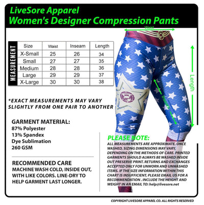 "Wonder Woman ""Balance"" Compression Pants"