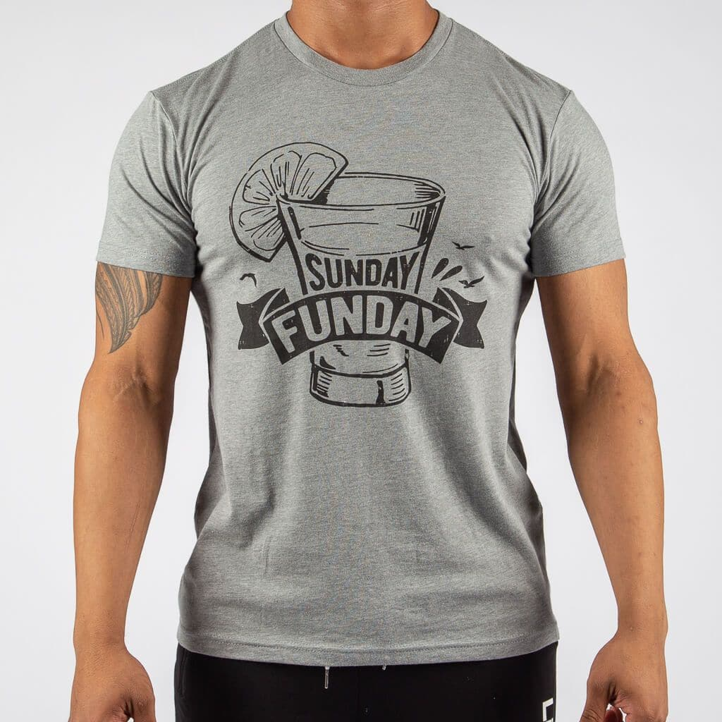 Sunday Funday Gray T-Shirt-Mens Apparel,Mens T-Shirts-Livesore.net