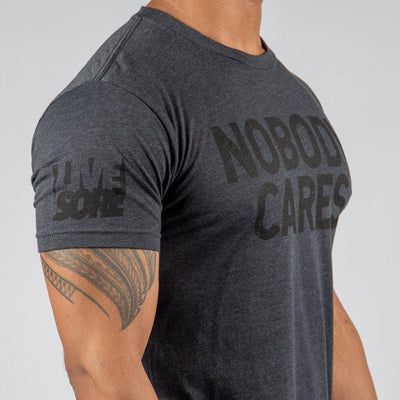 NOBODY CARES Charcoal Ghosted Men's T-Shirt