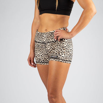 FIRE No-Rise Booty Shorts - ANIMAL PRINT