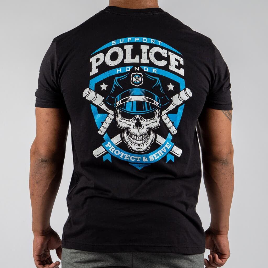POLICE Thin Blue Line Support T-Shirt