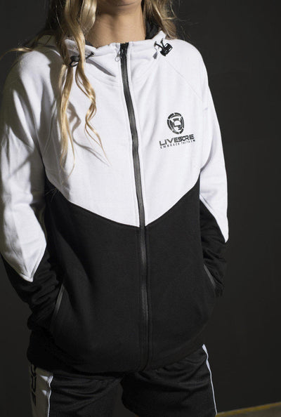 Tux Black & White Zip Up Hoodie