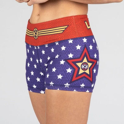 FIRE No-Rise Booty Shorts - WONDER WOMAN