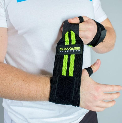 Savage Strength Velcro Wrist Wraps