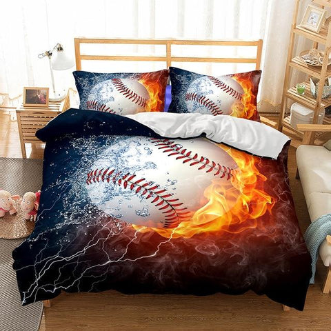 3D Baseball Basket Ball Rugby Bedding Set Duvet Cover Kids Sports Bedspreads