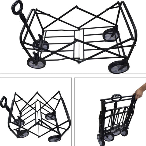 Foldable Beach Wagon Collapsible Trolley Carts