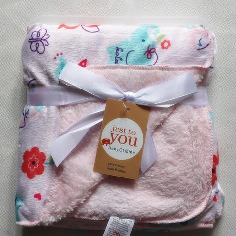 Baby Swaddle - Thick Double Layer Coral Fleece  Baby Bedding Blanket