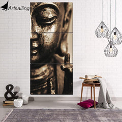 Buddha Canvas Wall Art - 3 Piece Buddha Wall Art Canvas Free Shipping