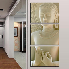 Buddha Canvas Wall Art - Fashion Buddha Marble Style Canvas Living Room Wall Art