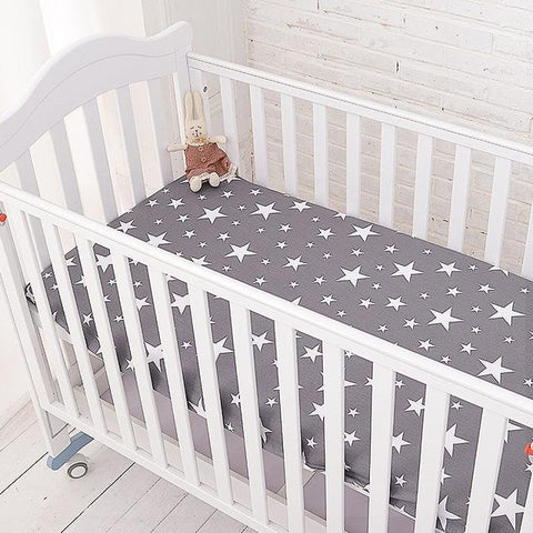 Duvet Covers - Cotton Baby Fitted Sheet Cartoon Crib Mattress Protector,baby Bed Sheet For Crib Size(130*70/120*60/120*65cm)