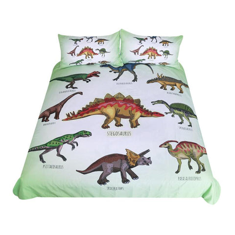 Duvet Covers - Dinosaur Family Bedding Set For Kids Cartoon Bed Cover Boys Duvet Cover Set