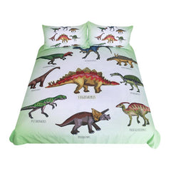 Dinosaur Family Bedding Set for Kids Cartoon Bed Cover Boys Duvet Cover Set