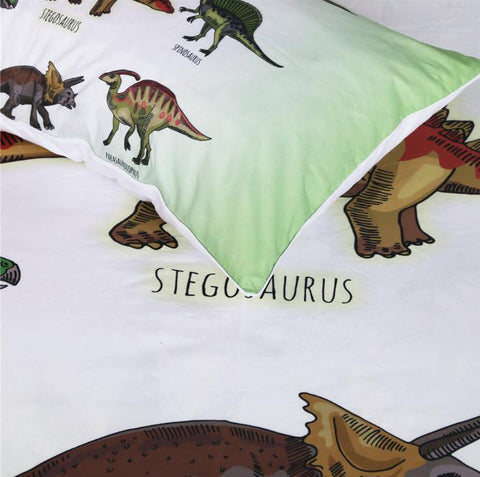 Duvet Covers - Kids Dinosaur Doona Full Bedding Bedspreads Set For Kids
