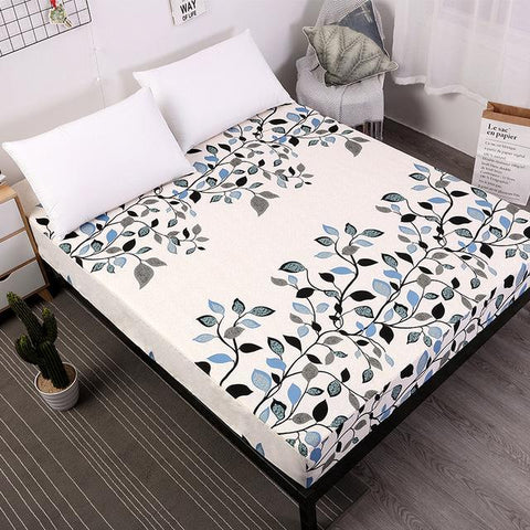 Duvet Covers - New Printing Bed Mattress Cover Waterproof Mattress Protector Pad Fitted Sheet Separated Water Bed Linens With Elastic