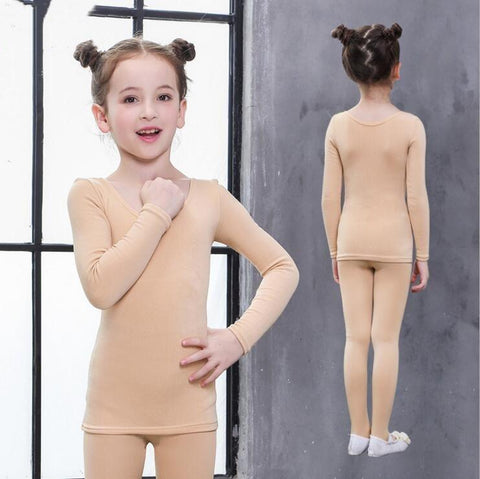 Girls Tops - Thermal Set Cotton Children Long Johns Girls & Boys Thermal Underwear