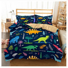 Kids Dinosaur T-Rex Doona Bed Cover Duvet Set