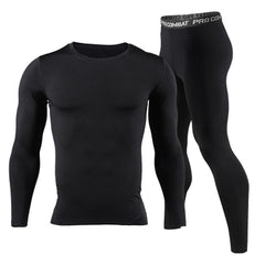 Long Johns - 2018 New Men Long Johns Winter Thermal Underwear Sets Brand Quick Dry Anti-microbial Men's Stretch Warm Thermos Underwear Spring