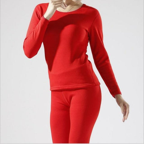 Long Johns - HOT SALE 2018 New Thermal Underwear Men An Woman Long Johns Autumn Winter Shirt+pants 2 Piece Set Warm Thick Plus Velvet Size M-XXXL