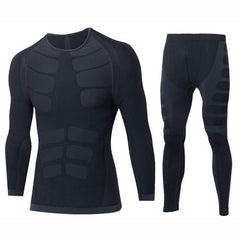 Winter Thermal Underwear Sets Men Brand Quick Dry Anti-microbial Stretch