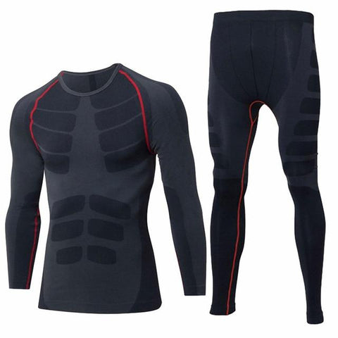 Long Johns - Winter Thermal Underwear Sets Men Brand Quick Dry Anti-microbial Stretch