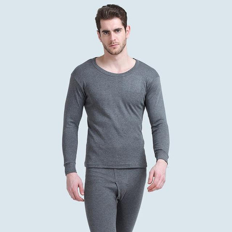 Mens Underwear - Winter Autumn Men Warm Thermal Underwear Cotton Long Johns