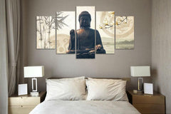 Modern Printed Buddha Wall Canvas For Living Room