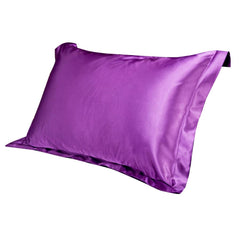 Pillow Cases - Hot Solid Color Emulation Silk Pillowcase Bedding Pure Single Pillow Cover Inner Protector