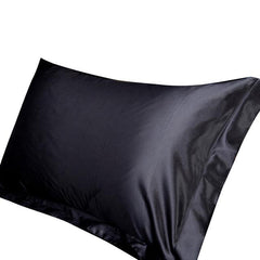 Hot Solid Color Emulation Silk Pillowcase Bedding Pure Single Pillow Cover Inner Protector