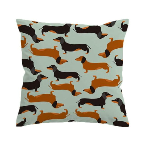 Pillow - Dachshund Sausage Cushion Cover Cartoon Dogs Pillow Case Pet Throw Cover For Kids Decorative Pillow Cover 45x45cm