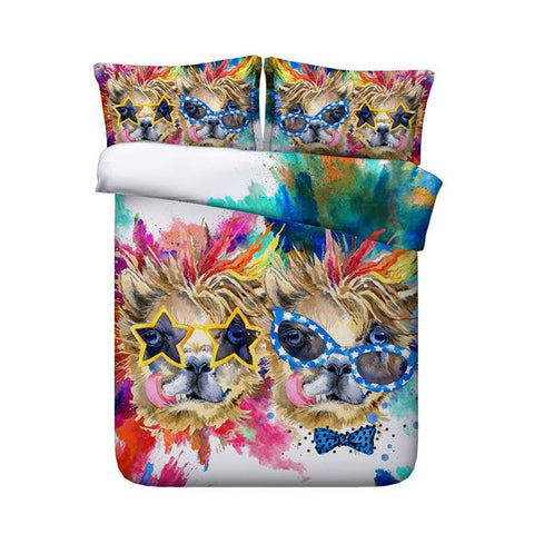 Sloth Bed Set For Kids Adults Single Queen Super King Size Deer Duvet Covers Small Animal Bedding Sheets