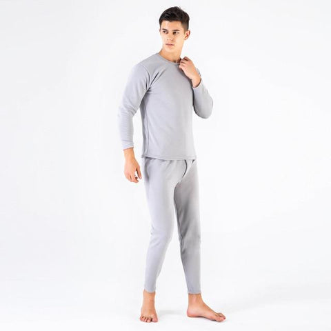 Thermal Underware - Winter Couple Warm Thermal Underwear Set For Women & Men Layered Clothing Cashmere Velvet Thick Thermal Long Johns Plus Size XXXL