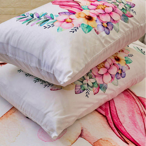 Unicorn Quilt Cover Bedding Set Pink and white Unicorn Duvet Set