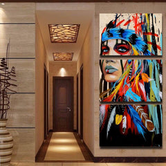 Native American Indian Canvas Wall Art