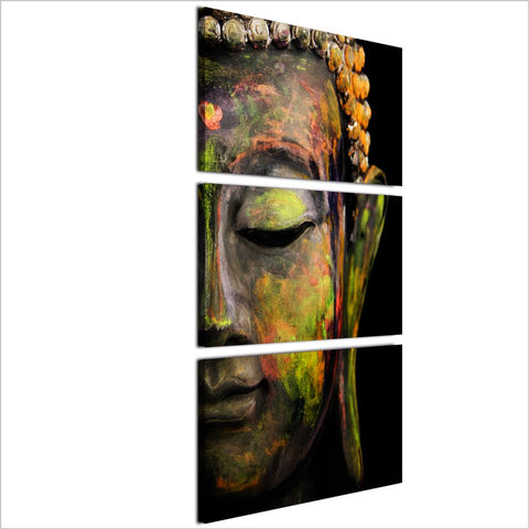 Wall Art - Large Buddha Half Face Canvas Wall Art (Ready To Be Hung)