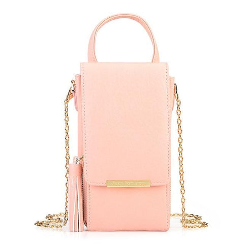 Woman's Shoulder Bags - Crossbody Phone Bag New Tassel Zipper Mini Shoulder Bags For Women Lady Messenger Phone Bag Card Holder Small Handbag Purses
